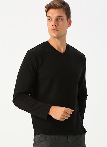 Cotton Bar Sweatshirt Siyah